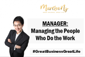 Manager managing people who do work